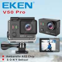 Original EKEN V50 Pro acción del deporte de la Cámara Ambarella A12 Wifi 4 K 30FPS 12MP de cámara 30 M resistente al agua deporte extremo cam