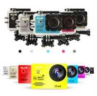 1080 Original MLLSE go pro hero cámara de acción deportiva 2,0 LCD 30 m impermeable 100% P WiFi go pro Cámara deportiva casco de buceo extremo