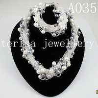 Hecho de perlas joyería 8mm ronda mar Shell collar de perlas de pulsera 24 filas broche de imán perfecto cumpleaños regalo de las mujeres a35