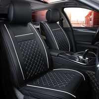 (Delantero + trasero) cubierta de cuero de lujo del asiento de coche 4 temporada para Renault Kadjar Koleos Captur Megane 2 3 Duster Kangoo Koloe styling