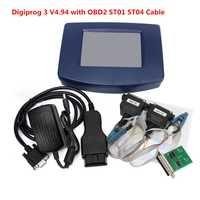 2018 el más nuevo coche herramienta de diagnóstico Digiprog 3 Unidad Principal de Digiprog III V4.94 w/OBD2 ST01 ST04 Cable KM adaptador odómetro programador
