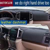 Pour Toyota landcruiser 2016 2017 2018 2019 cuir Dashmat couverture de tableau de bord tapis de bord tapis pare-soleil tapis personnalisé style de voiture LHD + RHD
