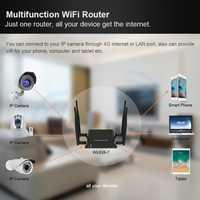 Inalámbrico wi-fi router tarjeta sim con 5dBi antenas externas de 300 Mbps 802.11n/b/g routeur 4g punto de acceso wifi señal fuerte