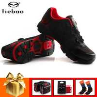 Tiebao profesional de ocio zapatos de Ciclismo MTB bicicleta Zapatos Zapatillas de Auto-bloqueo Atlético zapatos de carreras de al aire libre gira zapatos