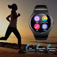 Multifuncional Bluetooth Smart reloj círculo completo pantalla táctil reloj del deporte de Fitness podómetro soporte SIM TF tarjeta