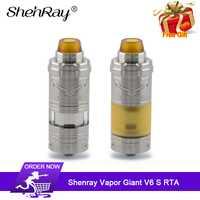 Shenray Vapor gigante V6S RTA 5,5 ml/7 ml 23mm bobina única superior sistema de flujo de aire inferior E -vaporizador de tanque de vaporizador cig