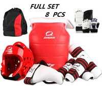 Nouveau adulte enfants taekwondo épaississement wtf taekwondo protection 8 pièces taekwondo protecteur de poitrine casque de karaté
