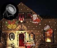 12 tipos Navidad láser de copo de nieve proyector al aire libre LED lámpara impermeable disco light party boda jardín estrellas etapa Luz