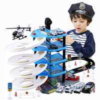 Nuevo juego de juguetes de estacionamiento para niños de juguete de aleación para niños