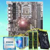 Carte mère de marque HUANAN ZHI X58 carte mère avec CPU Intel Xeon X5650 16G (2*8G) REG ECC carte mémoire vidéo GTX750Ti 2GD5