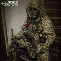 ROCOTACTICAL Militaire Sniper Ghillie Viper Capot Combat Ghillie Costume Fondation Personnalisé Ghillie Capot Veste Camouflage Woodland