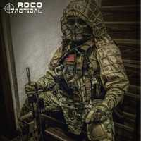 ROCOTACTICAL militar francotirador Ghillie Viper Hood combate Ghillie traje base personalizada Ghillie Hood chaqueta camuflaje bosque