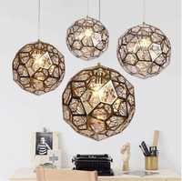 L51-Modern Acero inoxidable luces colgantes bolas joya E27 colgar lámpara de dormitorio salón tienda Hall Oficina restaurante