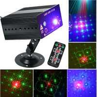 ZjRight rojo verde 48 tipo de patrón Proyector láser iluminación del Club del partido del Disco efecto de etapa LED Laser Show sistema