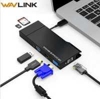 Full HD Dual 2 K Combo Mini Docking Station USB 3,0 Hub lector de tarjeta SD de Gigabit Ethernet Hub Multi- pantalla HDMI/VGA para ventana Mac