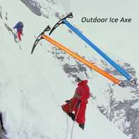 Camping al aire libre de aluminio de diseño hielo hacha anodizado de arresto equipo de escalada glaciar de nieve hielo hacha escalada hacha