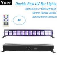 24 LEDS Color UV LED de la etapa de lavado efecto de luces 90-240 V perfecta para DJ Disco lámpara fiesta láser decoración UV Led Barra de luces