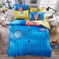 SAN DIEGO camiseta juego de cama edredón cubierta hoja de cama almohada reina doble tamaño completo cama 4 unids, aterciopelada