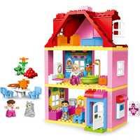 Gran edificio bloque amigos ciudad Rosa niña princesa familia casa niños juguetes educativos regalo regalos de navidad