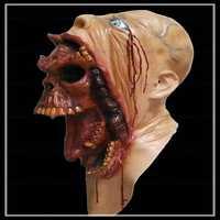 Envío libre de Halloween monstruo horror máscara Halloween emulsión natural máscara asustadiza del Partido de cosplay Masquerade Máscaras