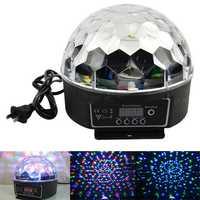 DMX512 Control Pannel 18 W DJ etapa de iluminación LED RGB Crystal Magic Ball efecto de luz Control de sonido pantalla láser KTV luces