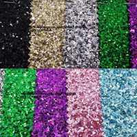 90x134 cm Pieles sintéticas Faux cuero Telas Glitter cuero Big Glitter multi-colores brillo cuero para Costura arco DIY p747