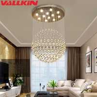 LED luces de luz lámparas para Cafe Hotel pasillo mundo K9 bola de cristal colgante de techo lámpara colgante Accesorios