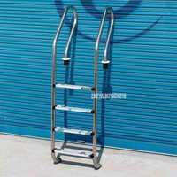 180 cm altura 4 escalera acero inoxidable 304 en el suelo piscina equipo antideslizante escalera juego para 1,4-1,6 m profundidad SF-415