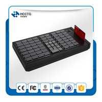 Supermercado pos programable clave teclado con lector de tarjetas inteligentes magnética KB66