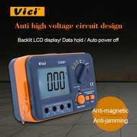 VC60B + probador de resistencia de aislamiento Digital Megger DC 250 V/500 V/1000 V alto voltaje y corto función de alarma de circuito