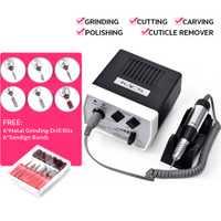 AriesLibra EN400 Pro clavo eléctrico máquina de perforación de Arte de uñas de manicura pedicura archivos eléctrico manicura taladro y accesorio