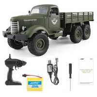 1:16 Camión Militar con mando a distancia de 6 ruedas 6WD potente todoterreno RC coche transportador ejército camión modelo vehículos Juguetes