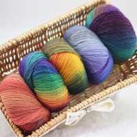 500g 10 bola 100% Australia lana Cachemira alta calidad raindow lana peinada Hilados de hnad ganchillo Laine un tricoter