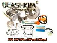 157QMJ SCOOTER GY6 125cc actualización GY6 150cc Kit de motor KIT de cilindro de rendimiento Cam CDI de la cabeza del cilindro con válvulas montado