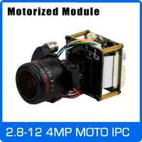 Cámara IP 4MP 2,8-12-12mm, Zoom motorizado y Auto lente Focal 1/3
