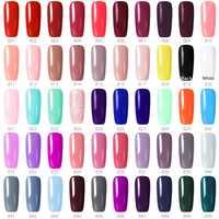 1 unid * 55 colores de uñas de Gel polaco GDCOCO precio barato de larga duración Gel de esmalte de uñas Canni de First Base abrigo ahora abrigo Kit
