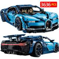 Creador Compatible con Legoingly Technic BugattiED Chiron Technik Series bloques Chiron Blue Racing Car Bricks Kid Toys 38036