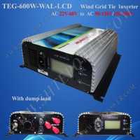 ¡Envío de Fedex! 600 W inversor de la rejilla para turbina eólica inversor de potencia de onda sinusoidal pura