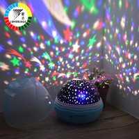 Coversage veilleuse projecteur rotatif ciel étoilé étoile maître Spin romantique lampe LED usb Projection enfants bébé sommeil