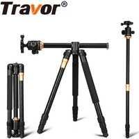TRAVOR soporte portátil profesional trípode de cámara 61 pulgadas portátil de viaje sistema Horizontal trípode para Canon Nikon Sony DSLR