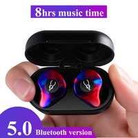 Profesional gemelos Mini 3D estéreo de sonido del auricular de Bluetooth Invisible inalámbrica impermeable deportes auriculares con Banco de la energía