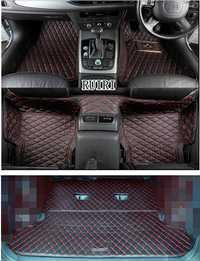 ¡Bien! Alfombrillas especiales personalizadas para el suelo del coche + una estera para el maletero de la mano derecha Mitsubishi Pajero 7 asientos 2019-2007 impermeable alfombras