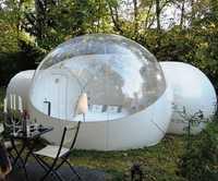 Tienda de burbujas inflable transparente con túnel para la venta fabricante de China, carpas inflables para espectáculos comerciales, tienda inflable de jardín