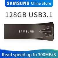 SAMSUNG USB Flash Disk 128 GB USB 3,1 de Metal 3,0 Mini pluma Drive plumadrive memoria Dispositivo de almacenamiento U disco
