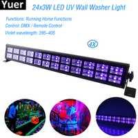 24 LED Disco UV negro violeta luces DJ 80 W Par lámpara UV para fiesta de Navidad de barra de la lámpara de la etapa del Laser arandela de la pared del punto de luz de fondo