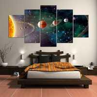 Hermosa planetas Sistema Solar 5 piezas 5d diy diamante pintura de arte del mosaico de la plaza diamante bordado diamante rompecabezas Y2790