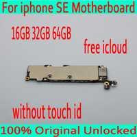 16 GB/32 GB/64 GB Original desbloqueado para iphone 5SE SE placa base sin Touch ID para iphone SE placa de circuito con iCloud gratuita