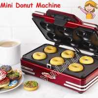 Máquina Eléctrica de Donut Waffle del fabricante Takoyaki 220V, Mini máquina doméstica de desayuno, herramientas para hornear, máquina de gofres de Donuts RMDM800
