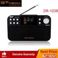 FREESAT DR-103B Digital portátil DAB + DAB Radio FM DAB RDS espectro Receptor BT 4,0 altavoz estéreo Receptor de 2,4 pulgadas pantalla