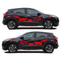 2 piezas unids accesorios para el coche 2018 nueva pegatina creativa para Honda Vezel divertido DIY calcomanía pegatina coche estilo 2 colores